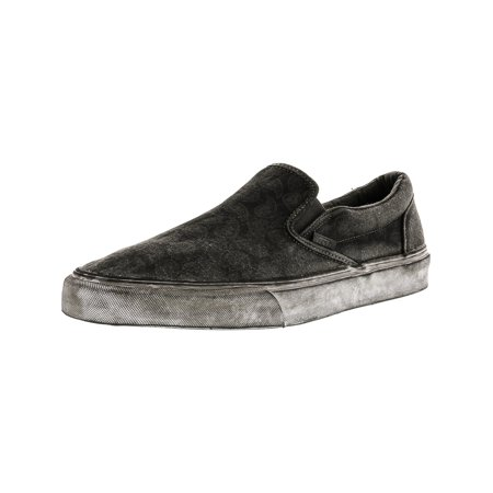 Vans Classic Slip-On + Overwash Paisley Black Low Top Canvas Skateboarding Shoe - 12M / 10.5M