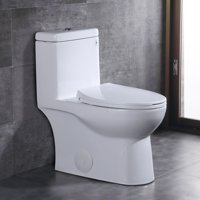 DeerValley DV-1F52816 1.28 GPF Elongated One-Piece Toilet (Soft Closing Seat Included)
