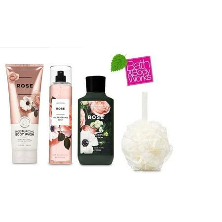 Bath and Body Works ROSE Gift Kit ~ Moisturizing Body Wash ~ Body Lotion & Fragrance Mist + FREE Shower (Evo Body Kits)