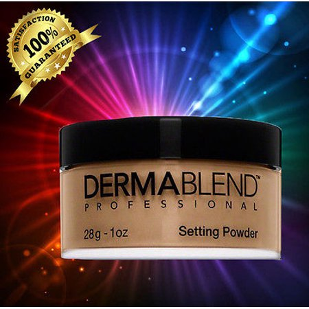 DERMABLEND Loose Setting Powder WARM SAFFRON, 1 oz. NEW IN -