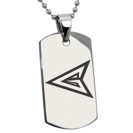 Stainless Steel DC Green Arrow Logo Engraved Dog Tag Pendant