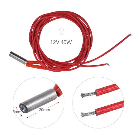 12V 40W Cartridge Heating Wire Heat Tube 1m for 3D Printer Extruder Parts - image 4 de 5
