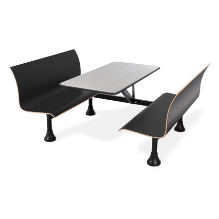 Magnificent Indoor Outdoor Group Seating Furniture Retro 24 In X 48 In Plywood Laminate Bench Wall Frame Black Stainless Steel Table Top Creativecarmelina Interior Chair Design Creativecarmelinacom