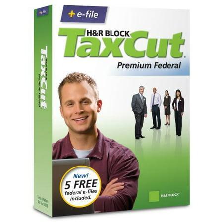 H Block Taxcut 2008 Premium Federal   E File  Old Version   Cd Rom  Windows Vista   Windows Xp   Windows 2000   Mac Os X