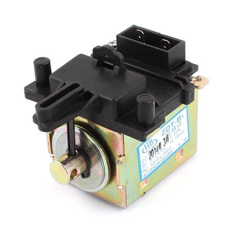 Washer Electric Drain Valve Motor Tractor Black Bronze Tone Dc 200V 50N 16Mm