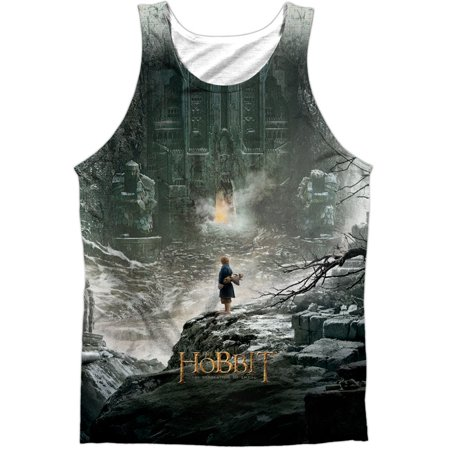 Hobbit Mens  Big Poster Mens Tank White