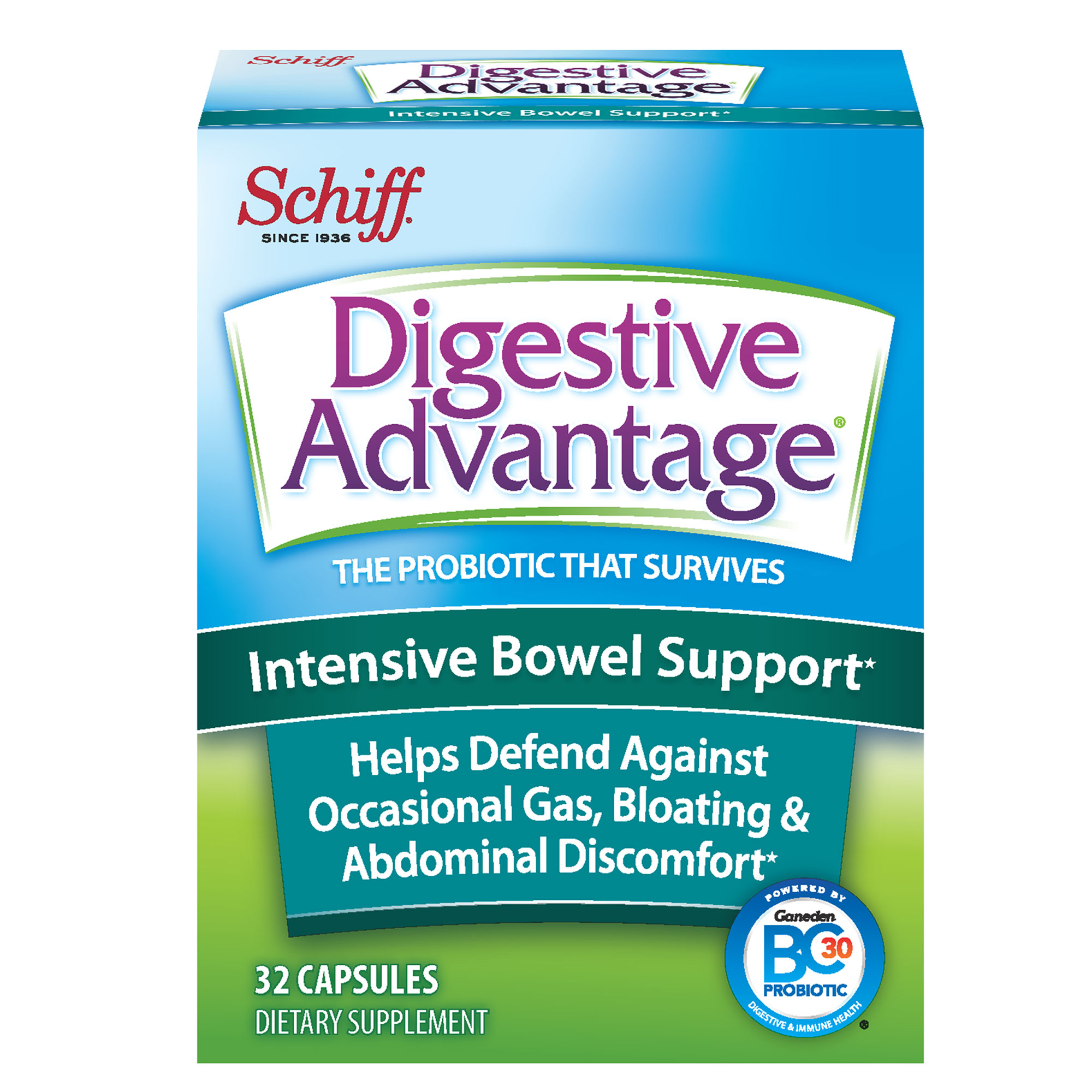 Digestive Advantage Intensive Bowel Support, 32 Capsules