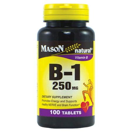 Mason Vitamines B 1 Comprimés de 250 mg, 100 Ct