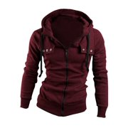 Men's Convertible Collar Soft Casual Stretchy Hooded Coat