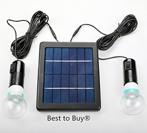 Best to Buy 5W Solar Panel DIY Lighting Kit, Solar Home System Kit, Portable Solar Charger with LED Light Bulb Flashlight as Emergency Light... by