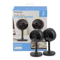 Merkury Innovations Smart Wifi Camera, 1080p, 2-Way Communication, 2-Pack