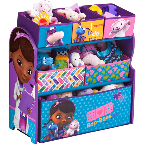 Paw Patrol Toy Organizer Bin Cubby Kids Child Storage Box: Disney Doc McStuffins Room In A Box With BONUS Toy Bin