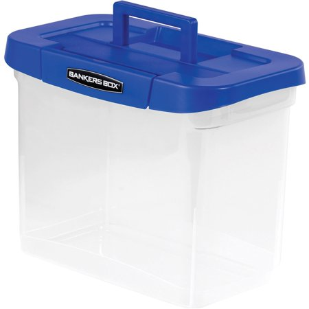 - Fellowes, FEL0086301, Bankers Box Heavy-duty Portable File Box, 1 Each, Clear