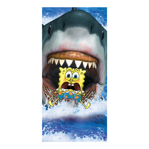 "SpongeBob Shark Bites 28"" x 58"" Beach Towel"