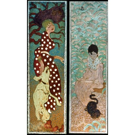 Bonnard Women 1891 Nwomen In The Garden 1 Distemper On Paper Backed With Canvas By Pierre Bonnard Poster Print by Granger Collection Garden Collection Back Cushion Canvas