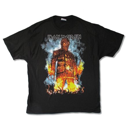 Iron Maiden Wicker Man 2010 N.A. Tour Mens Black T Shirt ()