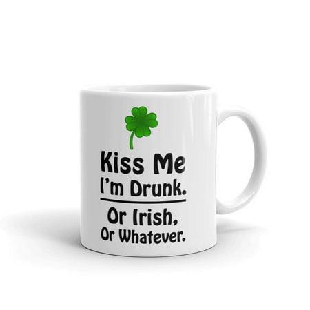 Irish Coffee Mugs Kiss Me I'm or Irish or Whatever Coffee Tea Ceramic Mug Office Work Cup Gift 11oz - Cofee Tea Or Me