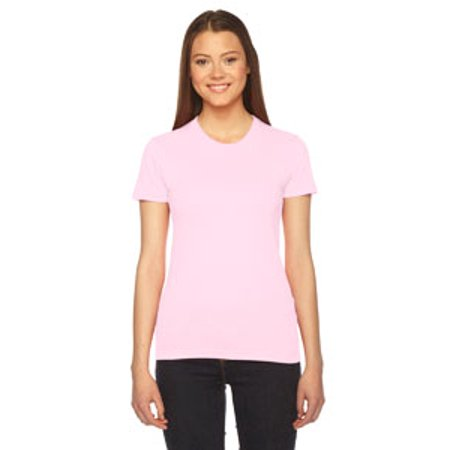 American Apparel Fine Jersey Short-Sleeve T-Shirt (2102) -LIGHT PINK -2XL