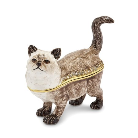 - Pewter Himalayan Cat Trinket Box