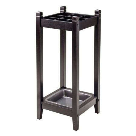 Winsome Wood Jana Grid Umbrella Stand, Espresso Finish ()