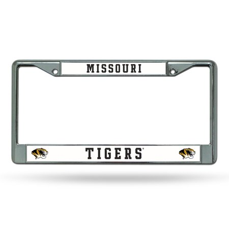 Missouri MIZZOU Tigers NCAA Chrome Metal License Plate Frame