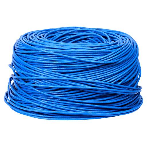 BattleBorn 1000 Foot Cat6 500MHz CMR UTP Solid Bare Copper Ethernet Cable Blue
