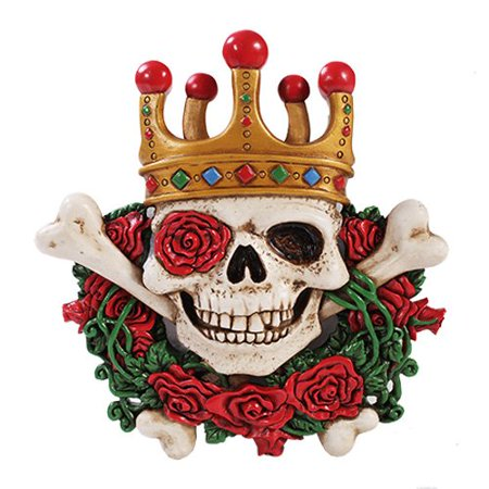 Day of The Dead Clown Skull Figurine Made of Polyresin for $<!---->