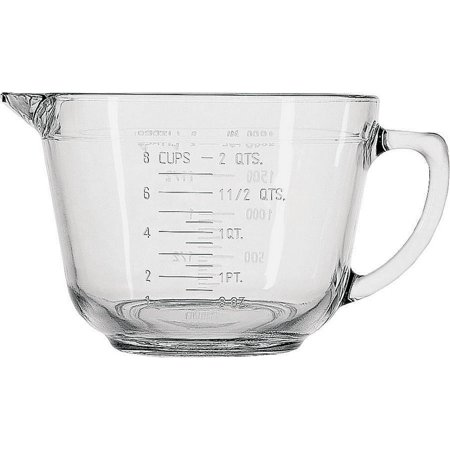 Anchor Hocking 81605L11 Measuring Cups, Batter Bowl, Glass, 2 Qt