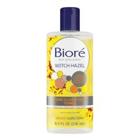 Biore Witch Hazel Acne Clearing and Pore Clarifying Toner, for Balanced Skin Purification, 8 fl oz
