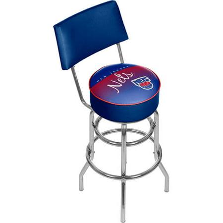 New Jersey Nets NBA Hardwood Classics Bar Stool with Back