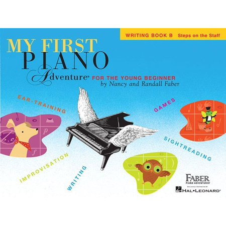 My First Piano Adventure, Writing Book B, Steps on the Staff: For the Young Beginner (Paperback) Waterford Writing Instruments