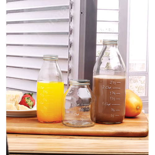 Circle Glass Odile 3 Piece Glass Decorative Bottle Set by