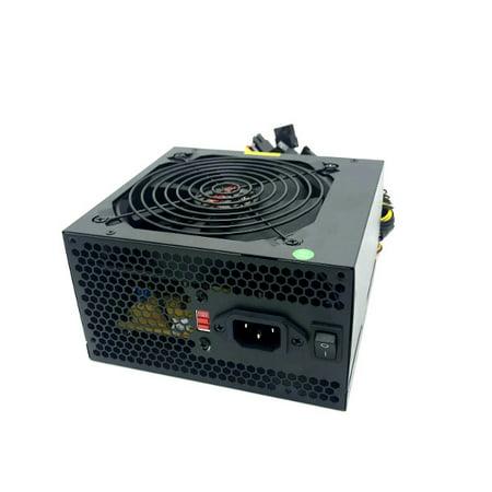 KENTEK 680 Watt 680W 120mm Fan Gold Color ATX Power Supply 12V Square 4/8 pin SATA 20/24 PIN for MB PC PCI EXPRESS PCI-E Intel AMD (700 Watt Power Supply)
