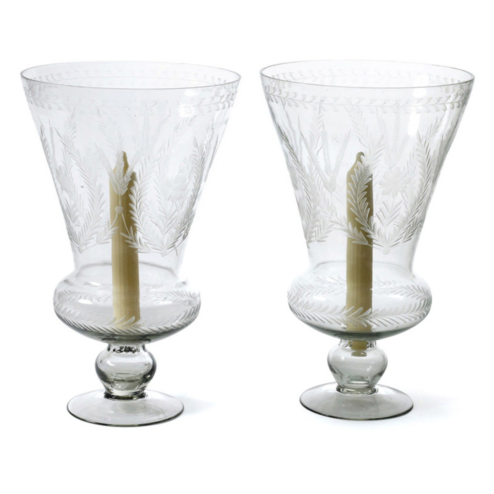 Hip Vintage Maison Hurricane Candle Holder - Set of 2