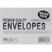 LEADER PAPER PRODUCTS A1100 A1 Envelope, 3.625 by 5.125-Inch, White, 100-Pack