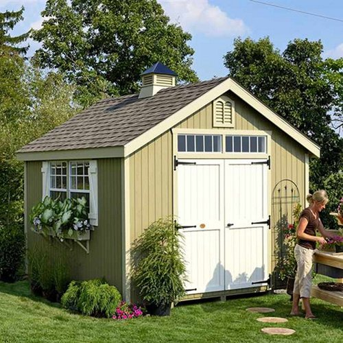 Little Cottage Company Colonial Williamsburg Precut Wooden Storage Shed