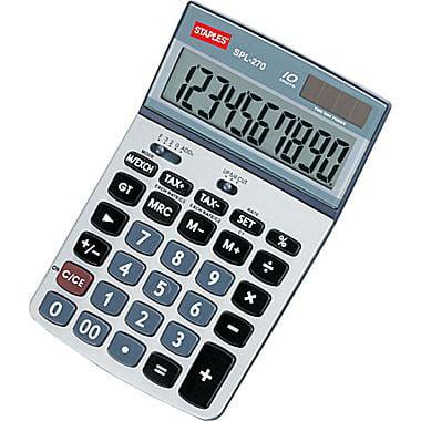 Staples spl 120 8 digit display calculator | staples.