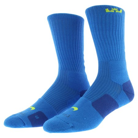 Nike Mens LeBron Elite Crew Basketball Socks Blue ...