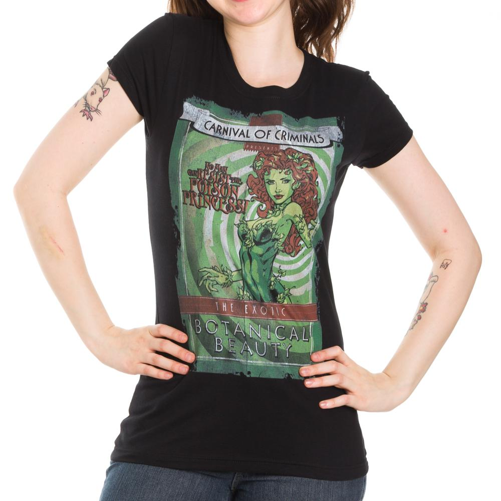Poison Ivy Carnival Of Criminals No Man Can Resist The Poison Princess The Exotic Botanical Beauty Men's Black T-Shirt Tee Shirt