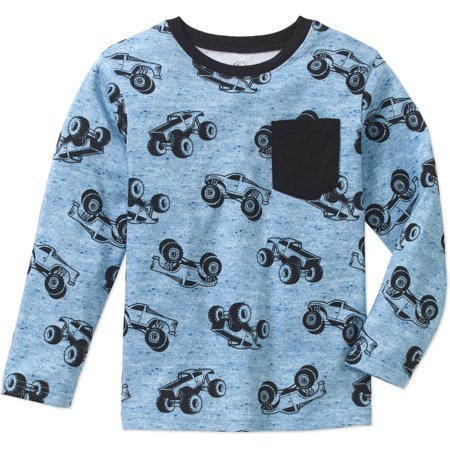 802b36cd2ee9 365 Kids From Garanimals - Boys' Long Sleeve Print Pocket T-Shirt -  Walmart.com