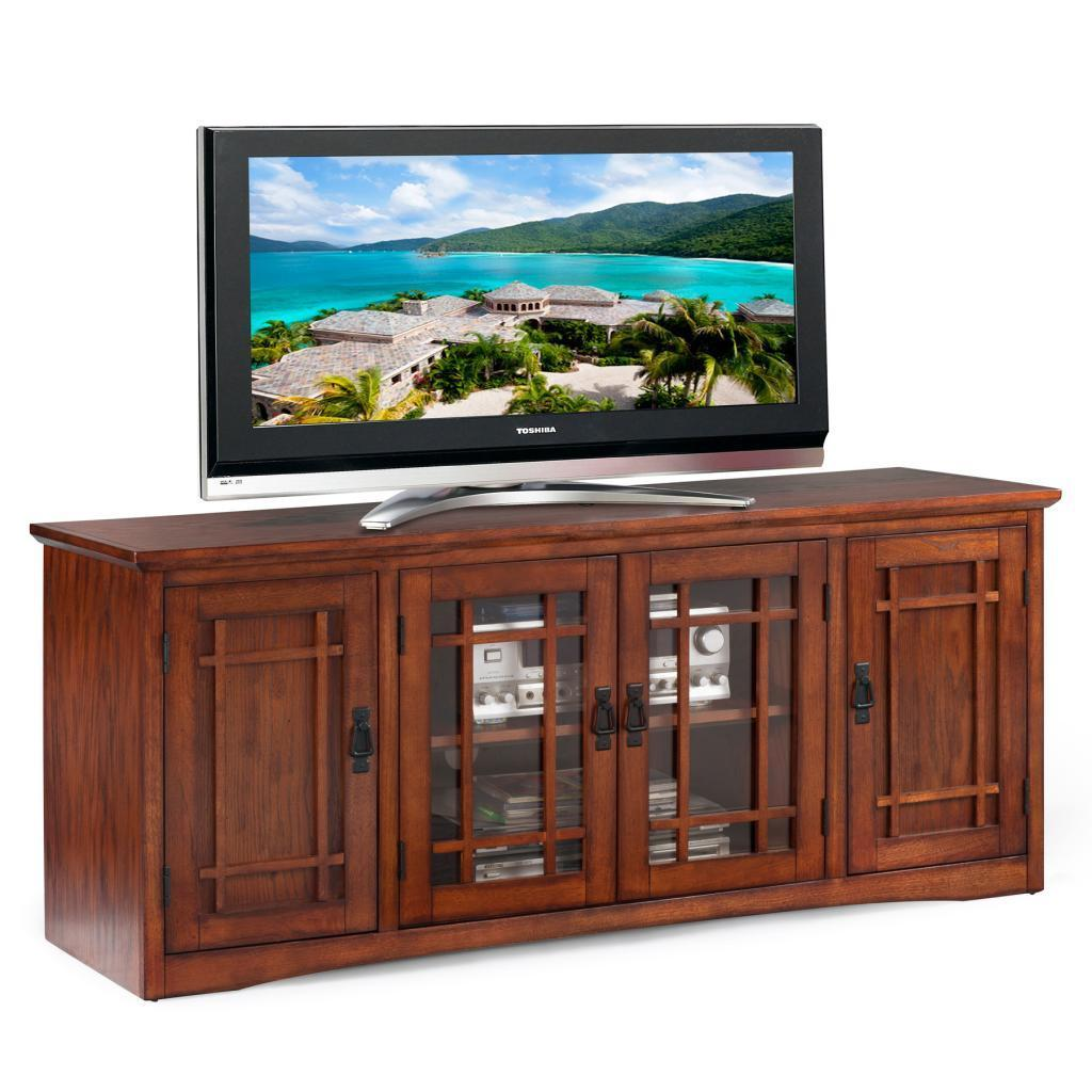 Mission Oak Hardwood 60-inch TV Stand