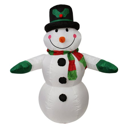 LB International Inflatable Lighted Snowman Christmas Yard Art Decoration
