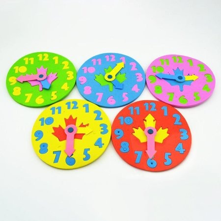 Kids DIY Clock Learning Education Toys Fun Math Game for Children Baby Color:Random Color