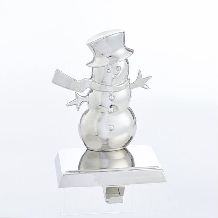 Silver Finished Christmas Decorative Snowman Stocking Hanger ()