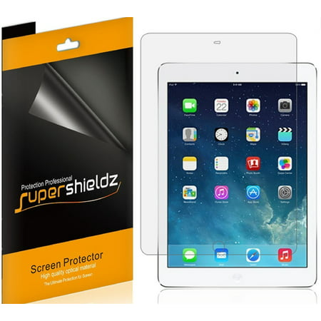 [3-Pack] Supershieldz for Apple iPad 9.7 inch (2018/2017) / iPad Pro 9.7 inch Screen Protector, Anti-Bubble High Definition (HD) Clear (Best Anti Glare Screen Protector For Ipad Mini)