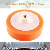 1Pc 6 (15cm) Sponge Polishing Buffing Waxing Pad Wheel For Car Polisher Buffer Orange, Car Polishing Pads,Polishing Pad Wheel