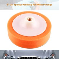 LYUMO 1Pc 6 (15cm) Sponge Polishing Buffing Waxing Pad Wheel For Car Polisher Buffer Orange, Polishing Pad, Polisher Buffer Pads