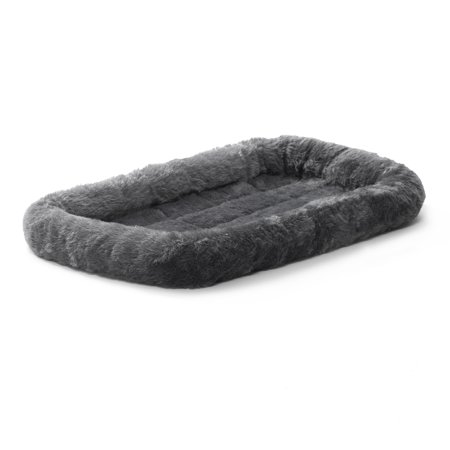 MidWest QuietTime Pet Bed & Dog Crate Mat, Gray, 22u0022