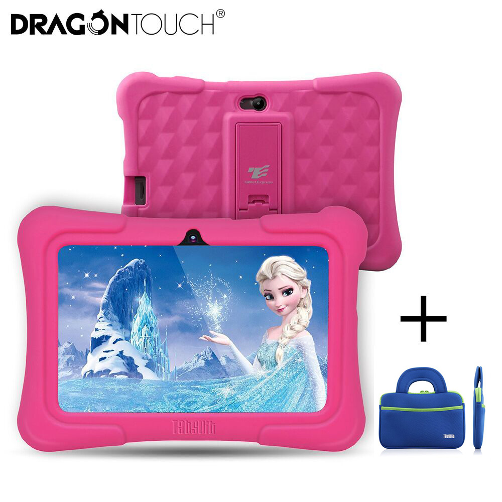 Dragon Touch Newest Y88X Plus 7 inch Kids Tablets PC Quad Core 8G ROM Android 6.0 With Children Apps Learning tablets for Toddlers Gifts+Tablet Bag
