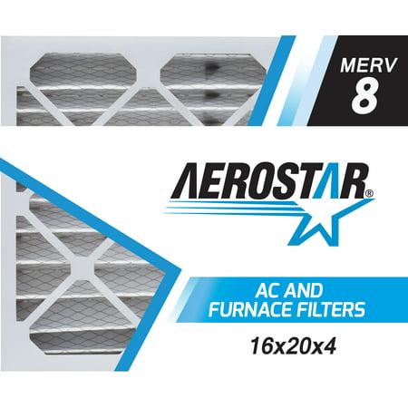 Aerostar 16x20x4 MERV  8, Pleated Air Filter, 16 x 20 x 4, Box of 1, Made in the USA (Furnace Filters 16 X 20 X 2)